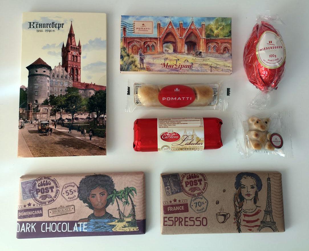 Сладкие сувениры изКалининграда