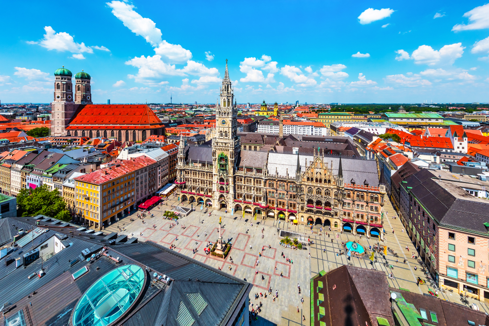 Мариенплац и Новая ратуша, Мюнхен