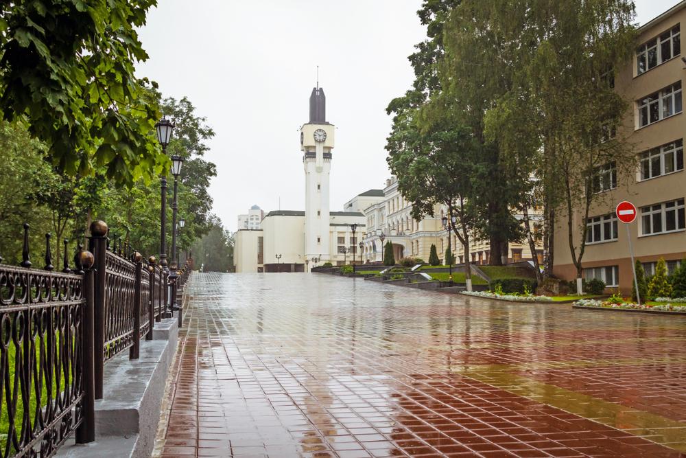 Улица Гоголя и Витебский областной исполнительный комитет