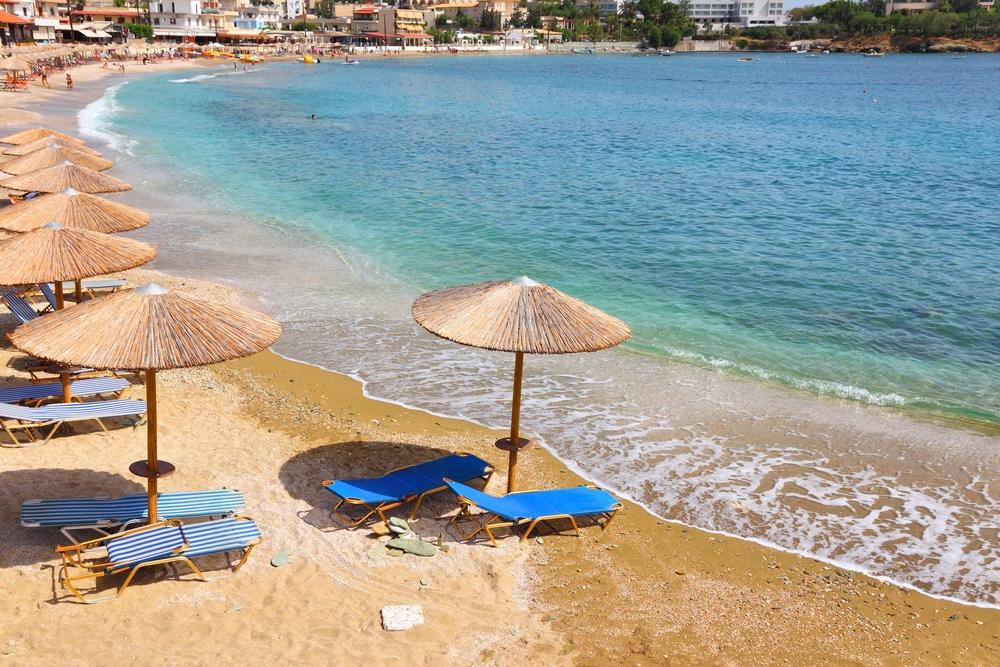 Главный пляж курорта Айя-Пелагия