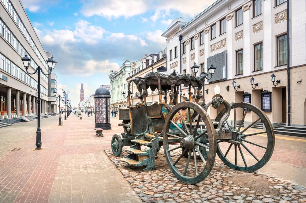 Копия кареты Екатерины II на улице Баумана