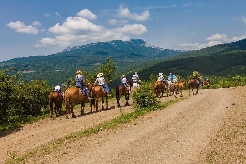Катание на лошадях в Алуште