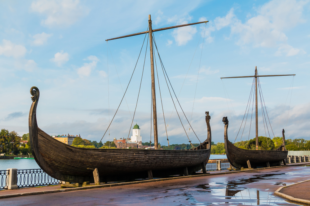 Драккары викингов, Выборг