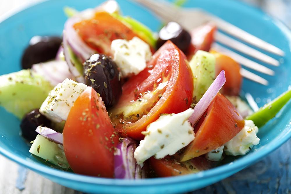 Греческий салат. Родос, Греция.