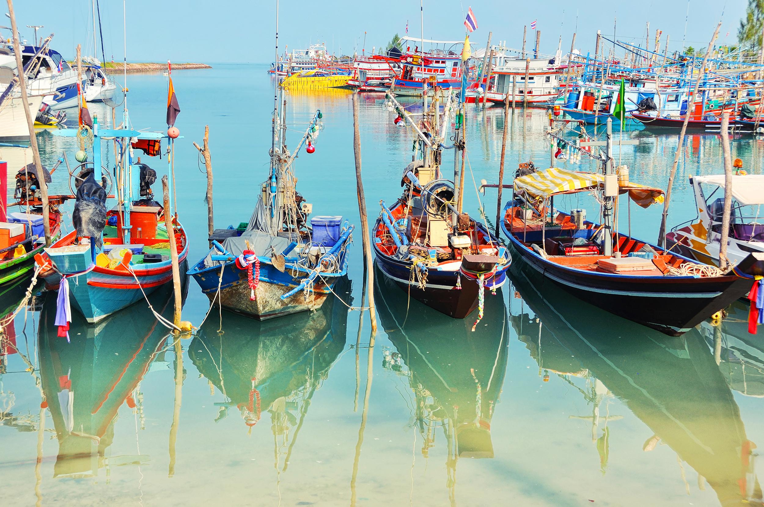 Рыбацкая деревня на Самуи