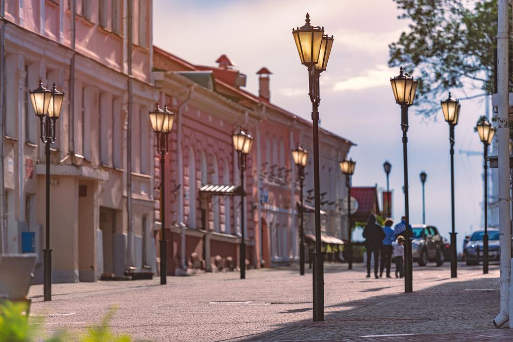 Пешеходная улица в историческом центре Витебска