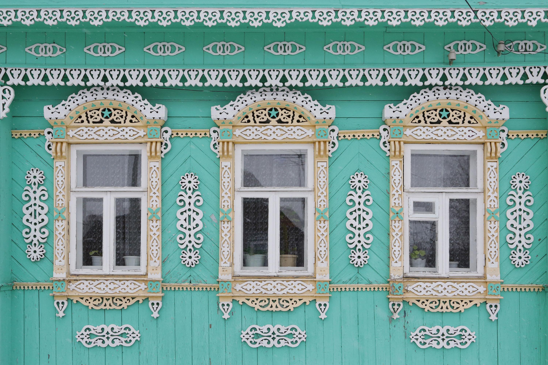 Дом сналичниками, Суздаль