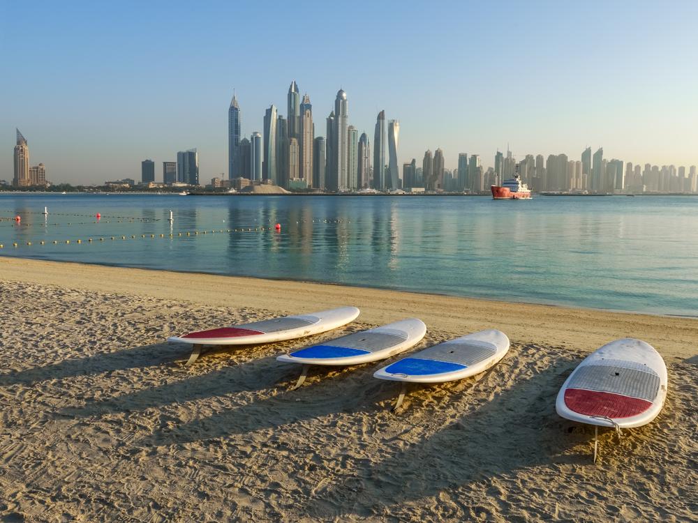 Пляж Kite Beach, Дубай, ОАЭ.