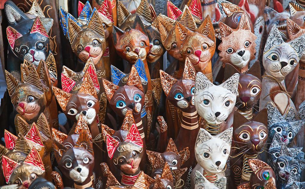 Балийские деревянные сувениры