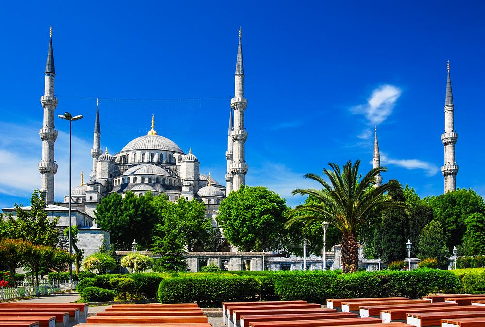 Голубая Мечеть. Стамбул, Турция.