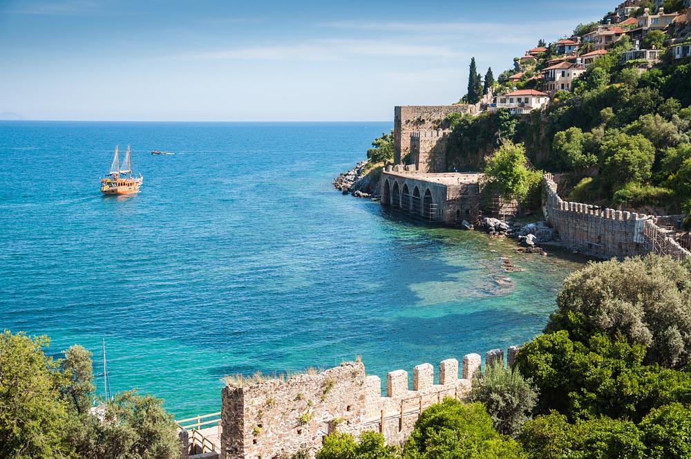 Крепость Алании. Алания, Турция.