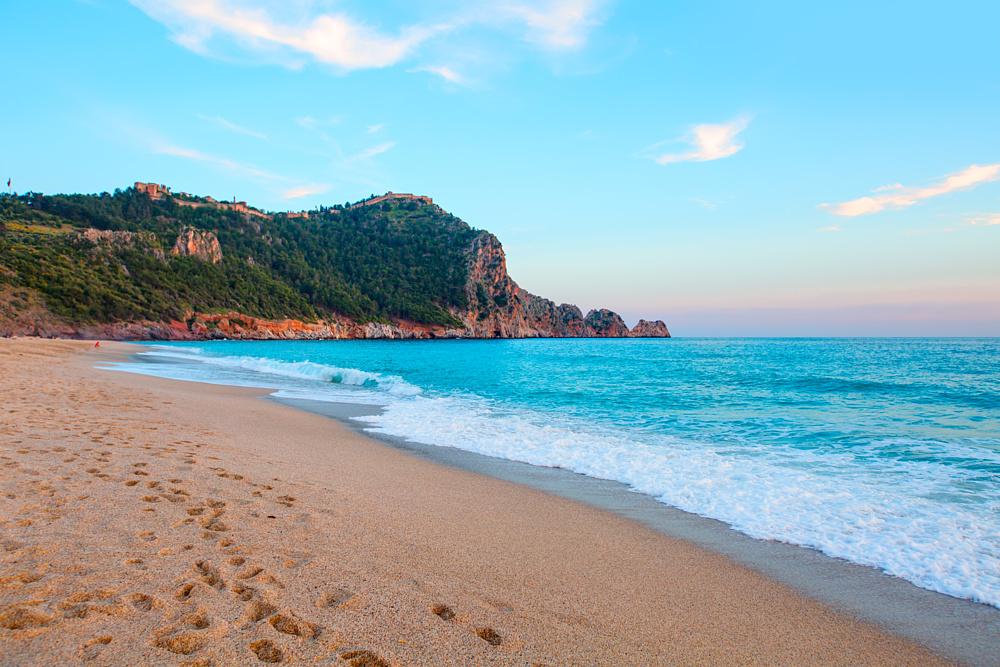 Пляж Клеопатры. Алания, Турция.