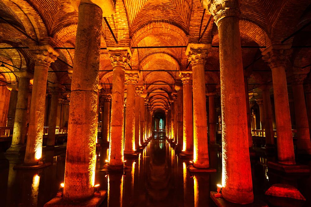 Цистерна Базилика. Стамбул, Турция.
