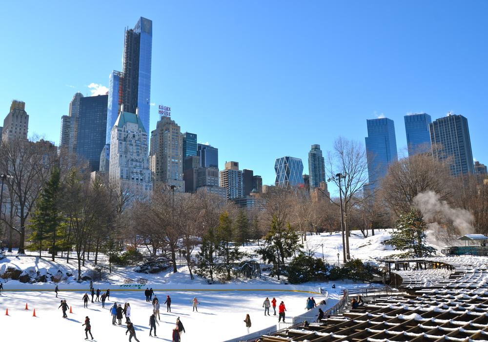 Каток в Центральном парке, Нью-Йорк