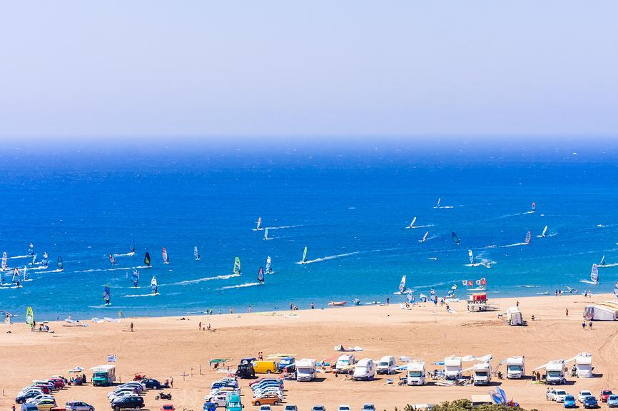 Пляж. Родос, Греция.