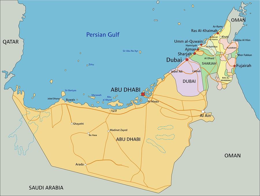 Дубай на карте эмиратов жилье в нью йорке купить