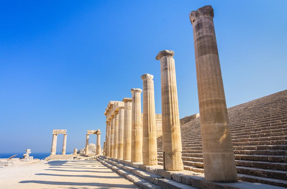 Акрополь в Линдосе. Родос, Греция.