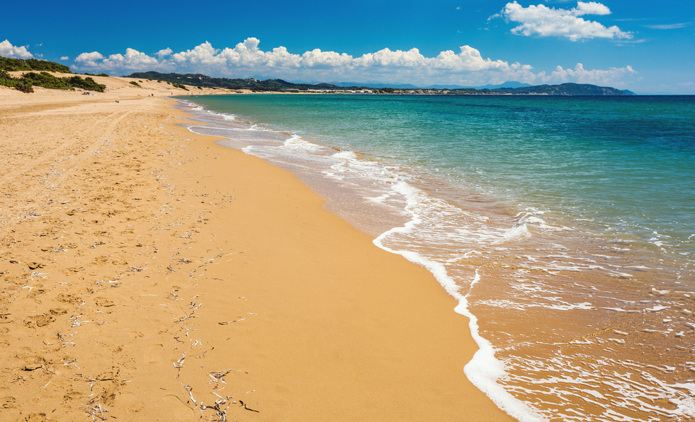 Корфу фото пляжей с отелями