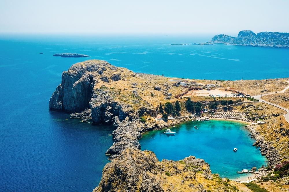 Бухта Святого Петра. Родос, Греция.
