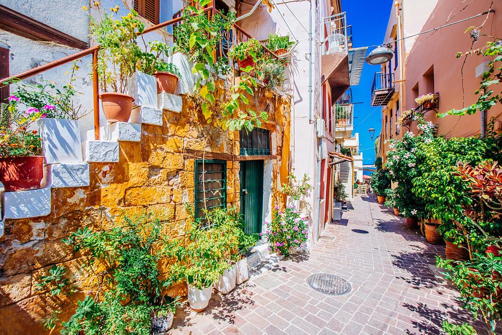 Улица города Ханья. Остров Крит, Греция