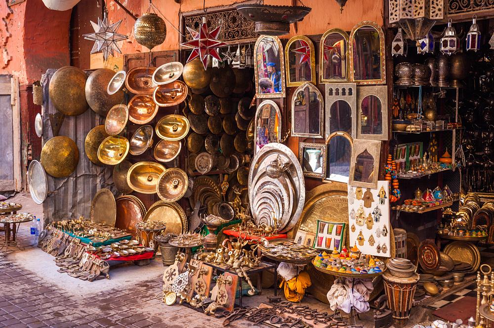 Рынок в Марракеше, Марокко.
