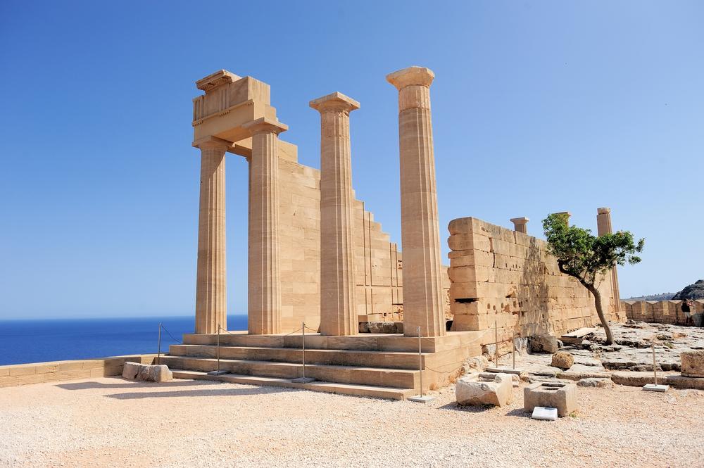 Линдос, акрополь. Родос, Греция.
