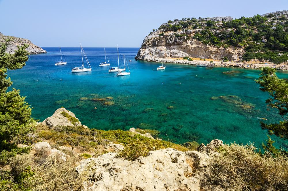 Пляж Энтони Куинна. Родос, Греция.