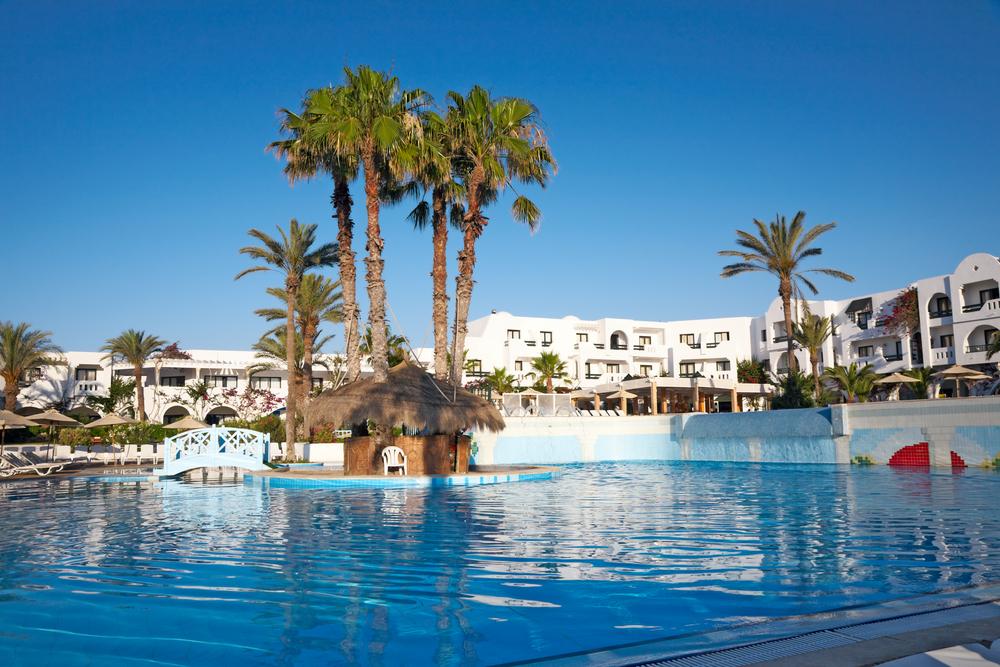 Отель на острове Джерба, Тунис.