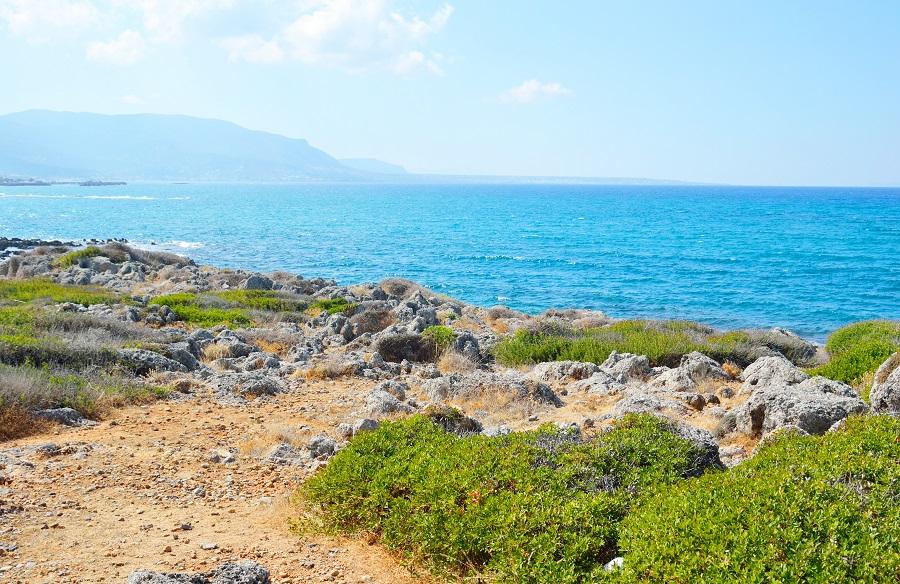 Эгейское море в июне. Крит, Греция.