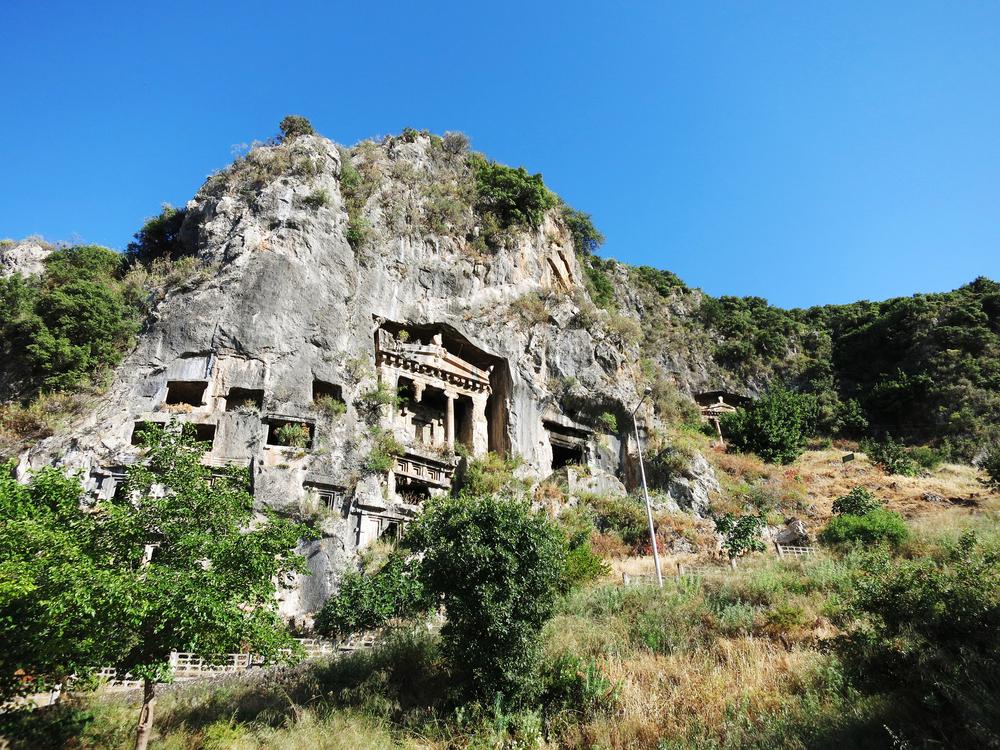 Ликийские гробницы, Фетхие, Турция.