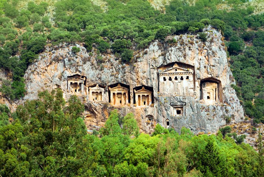 Древние гробницы Ликийских царей, Дальян, Турция.