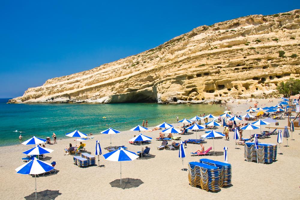 Пляж Матала. Крит, Греция.