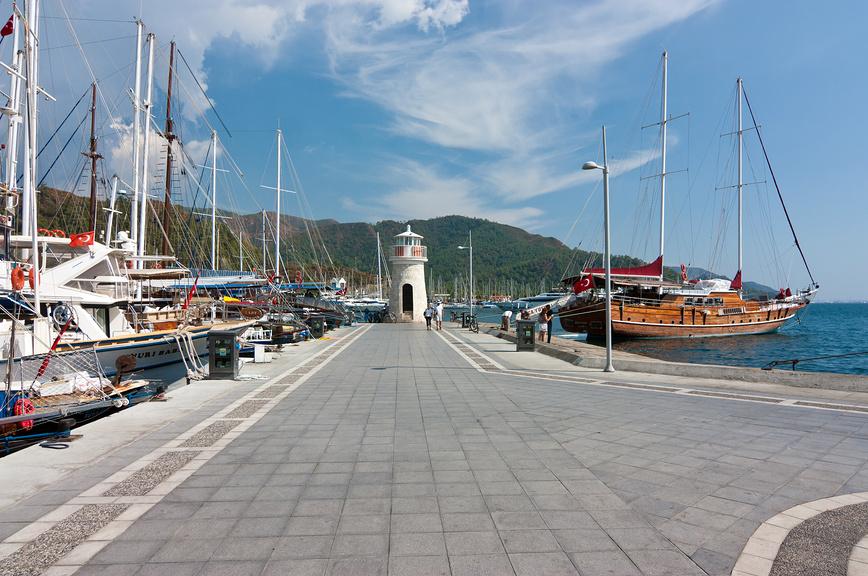 Порт Мармариса, Турция.