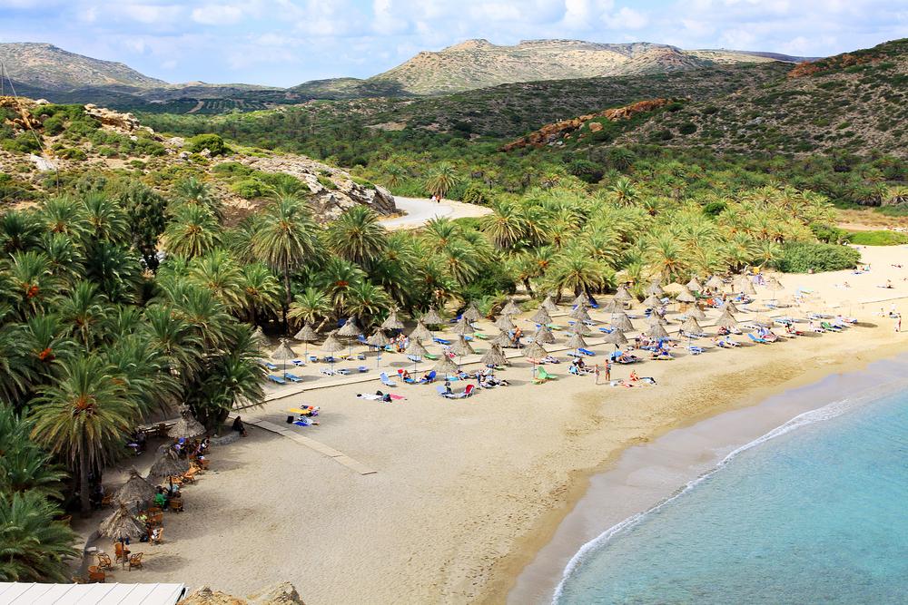 Пляж Вай. Крит, Греция.