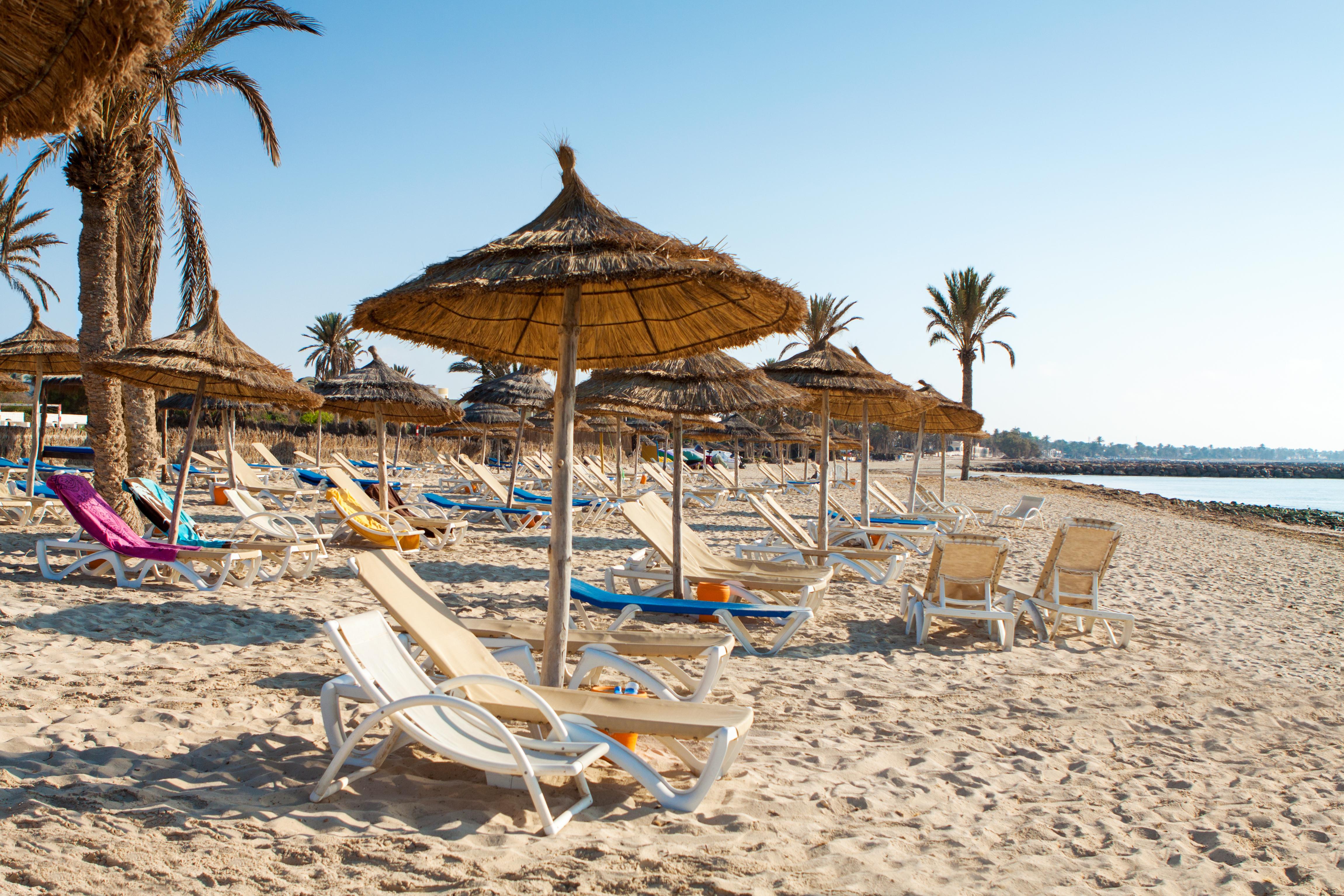 Пляж, Джерба, Тунис.