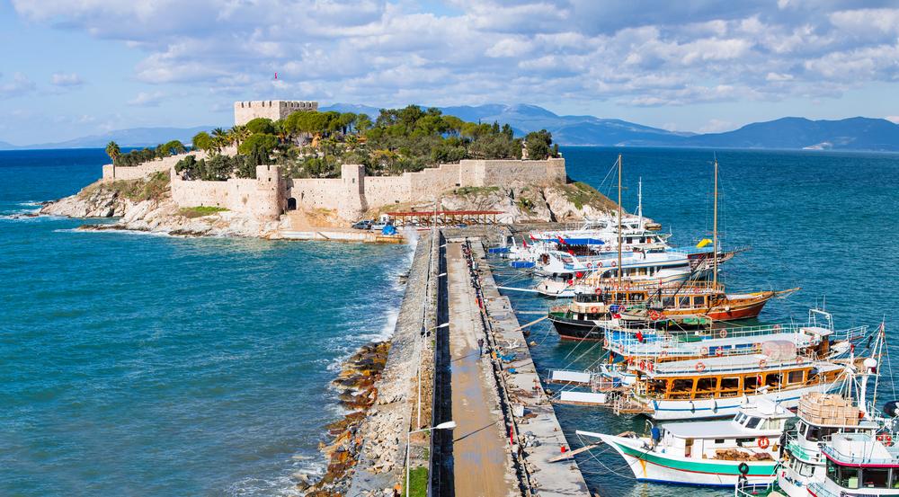 Голубиный остров, Кушадасы, Турция.