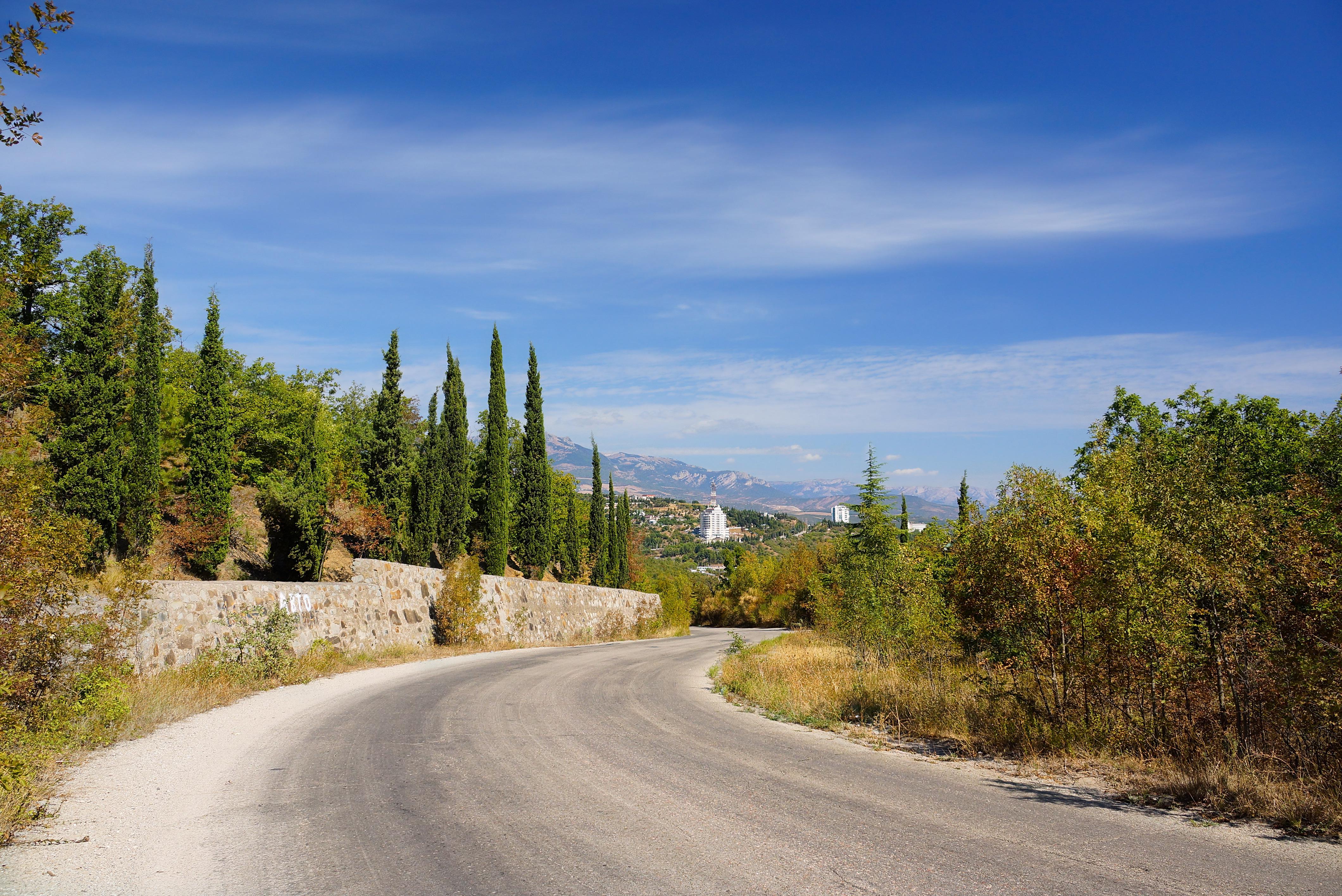 Дорога, ведущая в Алушту, Крым