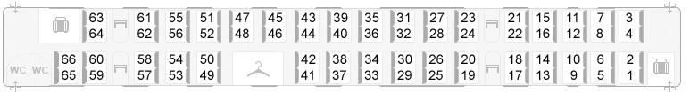 Сапсан - схема вагона №8
