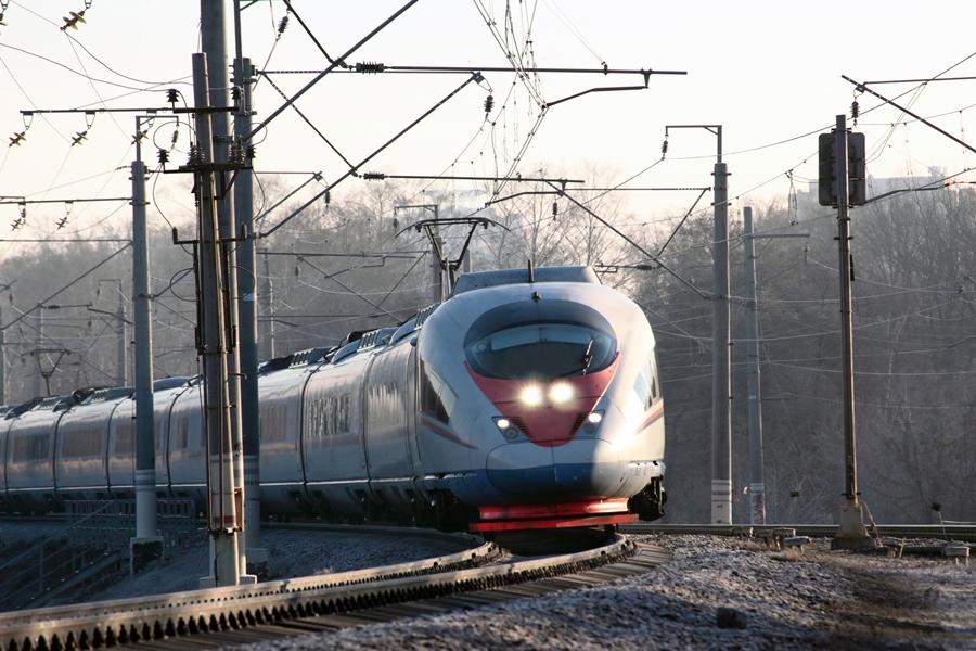 Кабина поезда Сапсан и его вагоны