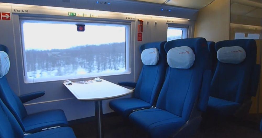 Поезд Сапсан - пассажирские кресла
