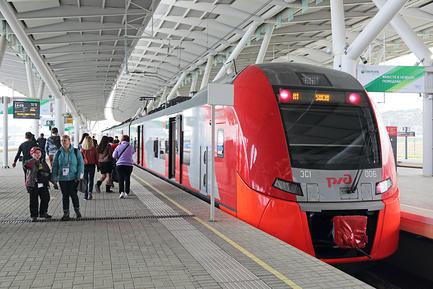 Фото поезда Ласточка
