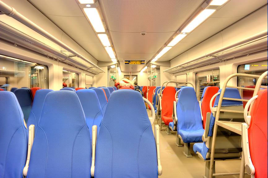 Места в вагоне поезда Ласточка